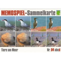 Tiere am Meer 4d - Memospiel-Sammelkarte