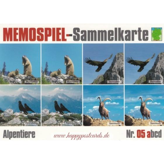Alpentiere 5a - Memospiel-Sammelkarte
