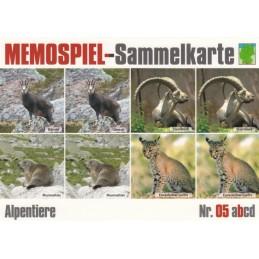 Alpentiere 5b - Memospiel-Sammelkarte