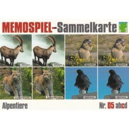 Alpentiere 5c - Memospiel-Sammelkarte
