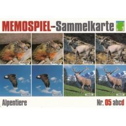 Alpentiere 5d - Memospiel-Sammelkarte