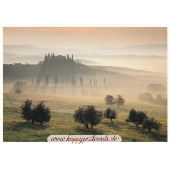 Toskanische Landschaft - Postkarte