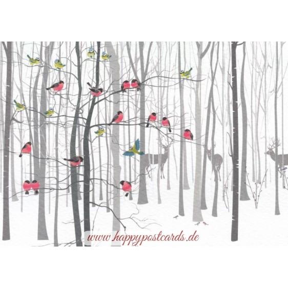Im Winterwald - Postkarte