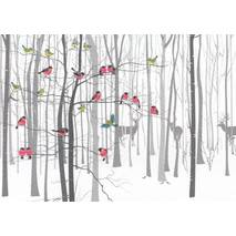 Im Winterwald - Weihnachtspostkarte
