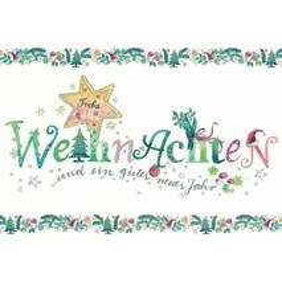 Frohe Weihnachten mit Glimmer - Weihnachtskarte