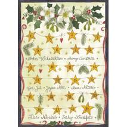 Frohe Weihnachten mit Sternchen - Weihnachtspostkarte