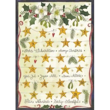 Frohe Weihnachten mit Sternchen - Postkarte