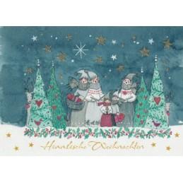 Himmlische Weihnachten - Weihnachtspostkarte