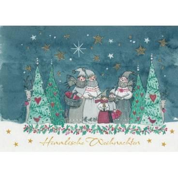 Himmlische Weihnachten - Postkarte