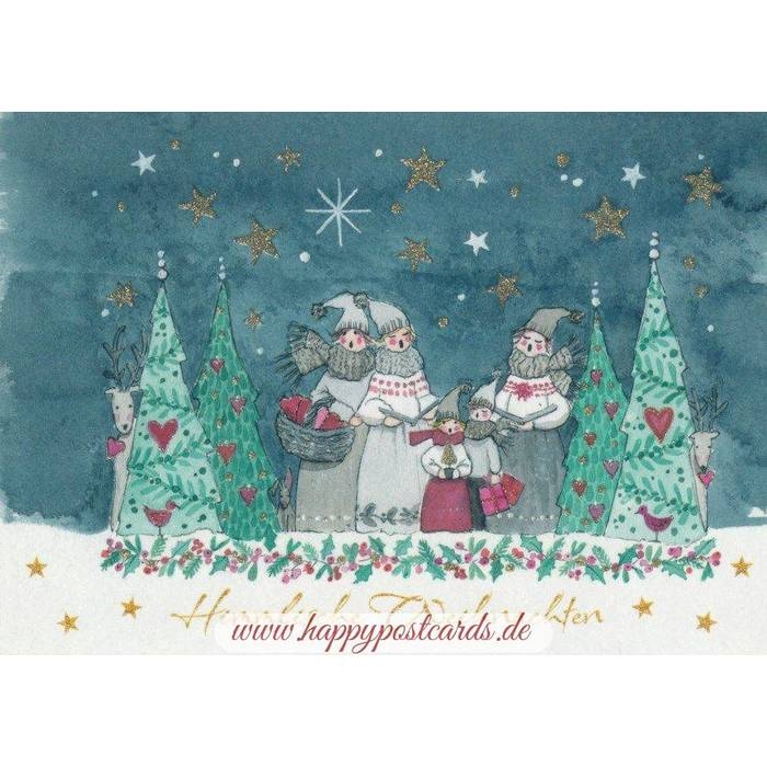 anl sse weihnachten himmlische weihnachten postkarte. Black Bedroom Furniture Sets. Home Design Ideas