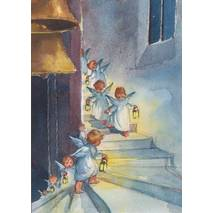 Little Angels with Lanterns - Postcard
