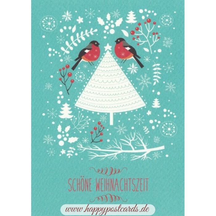 postkarten weihnachtskarten sch ne weihnachtszeit v gelchen weihnachtskarte taurus. Black Bedroom Furniture Sets. Home Design Ideas