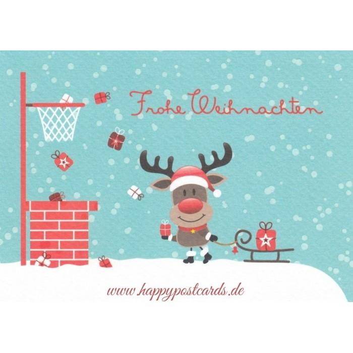 postkarten weihnachtskarten frohe weihnachten rentier. Black Bedroom Furniture Sets. Home Design Ideas