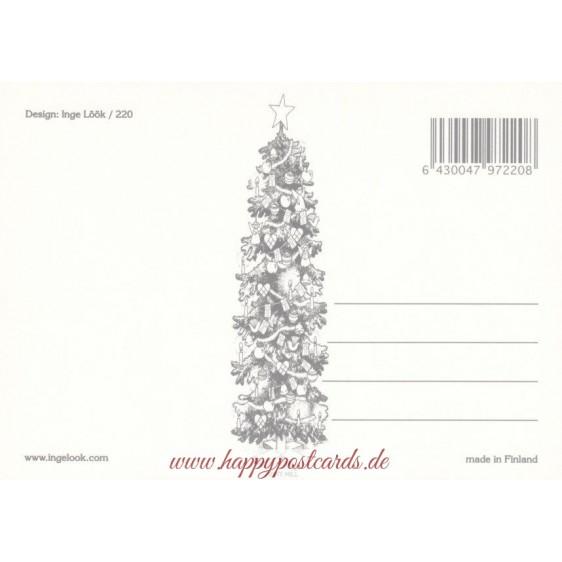 222 - Dwarf on Ladder - postcard