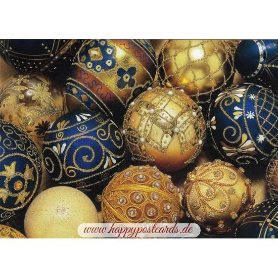 Christmas tree ball ornaments - Postcard