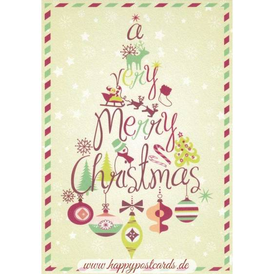 A very Merry Christmas - Postcard