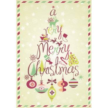 A very Merry Christmas - Postkarte