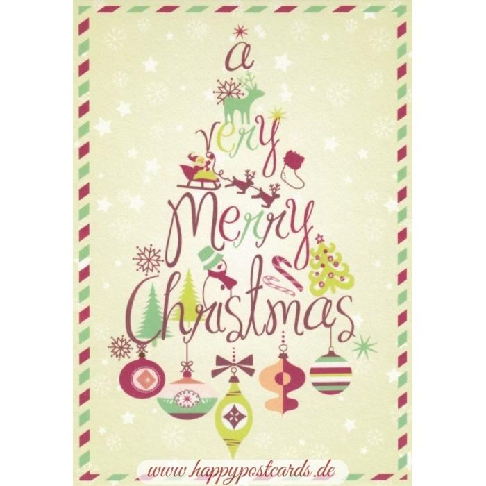 POSTKARTEN | Weihnachtskarten | A very Merry Christmas ...