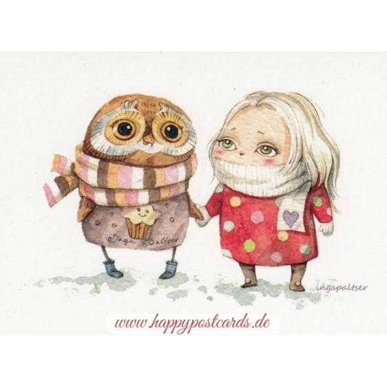 Beste Freunde - Paltser Postkarte