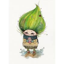 Troll with Owl -Paltser - Postcard