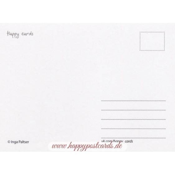 Troll mit Eule - Paltser Postkarte