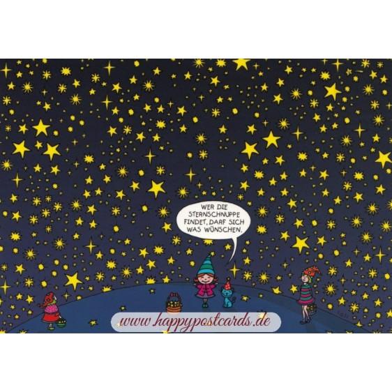 Wer die Sternschnuppe findet, darf sich was wünschen.