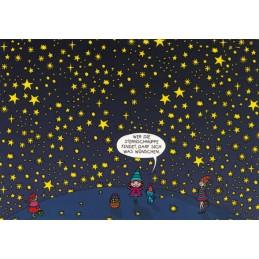 Wer die Sternschnuppe findet, darf sich was wünschen - Postkarte