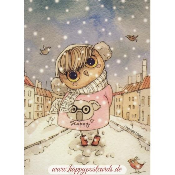 Wintereule - Paltser Postkarte