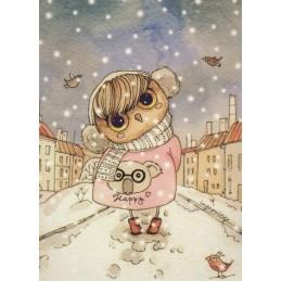 Winter Owl -Paltser - Postcard