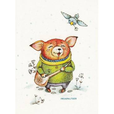 Happy Bear -Paltser - Postcard