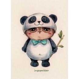 Pandaeule - Paltser Postkarte