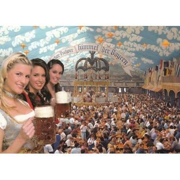 München Oktoberfest - Ansichtskarte