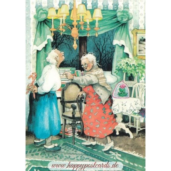 7 - Frauen mit Zuckerstangen - Postkarte