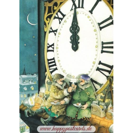19 - Frauen Neujahr - Postkarte