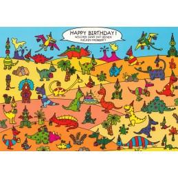 Welcher Dino hat Deinen Kuchen probiert? - Postkarte