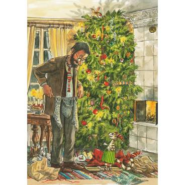 Christmas Gift Giving with Findus - Postcard