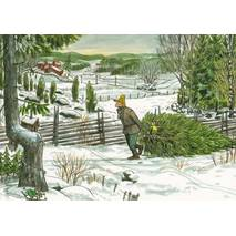 Getting a Christmas tree with Findus - Postcard