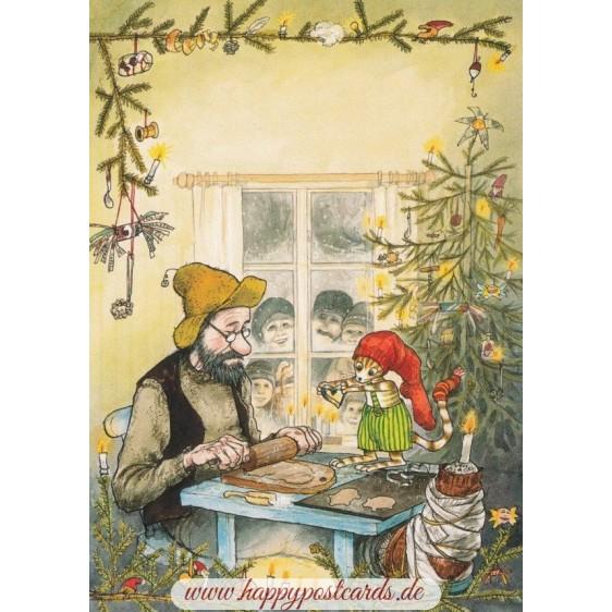 Pettersson bäckt Weihnachtsgebäck - Postkarte